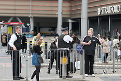 ©Licensed to London News Pictures; 17/10/2021, London UK; Emergency services were called to evacuate Westfield shopping centre in Stratford, East London after reports of a fire at the complex this morning : Photo credit, Steve Poston/LNP