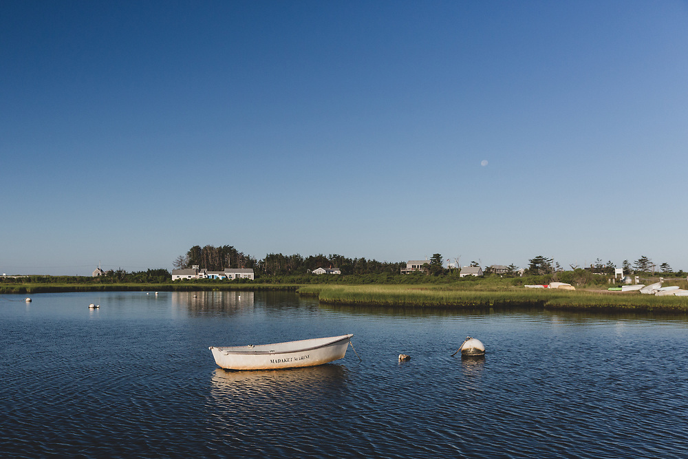 The calm waters of Madaket on a clear summer day.