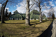 Schoenbrunn castle park. The Palmenhaus (Greenhouse).