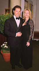 VISCOUNT & VISCOUNTESS LINLEY at a dinner in London on 19th May 1998.MHS 86
