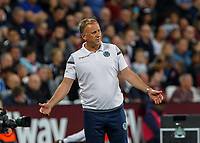 Football - 2018 / 2019 EFL Carabao Cup (League Cup) - Third Round: West Ham United vs. Macclesfield Town<br /> <br /> Mark Yates, Manager of Macclesfield Town, after his team conceded the 8th goal at The London Stadium<br /> <br /> COLORSPORT/DANIEL BEARHAM