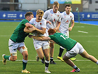 Rugby Union - 2021 Under 20 Six Nations - Round Three - Ireland vs England - Cardiff Arms Park<br /> <br /> Fin Smith England attacks<br /> <br /> COLORSPORT/WINSTON BYNORTH