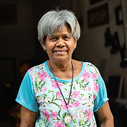 Portrait of elderly Thai woman in Thon Buri neighbourhood of Bangkok