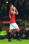 Robin van Persie of Manchester United celebrates scoring the third goal - Manchester United vs. Hull City - Barclay's Premier League - Old Trafford - Manchester - 29/11/2014 Pic Philip Oldham/Sportimage