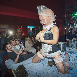Mcc0050190.DT News.Cirque le Soir, the hottest nightclub in London which has attracted the likes of Cara Delevinge,Rihanna,Nicole Scherzinger and Benedict Cumberpatch, to watch the goblin dwarves,giant clowns,fire eaters,peep shows andS & M acts