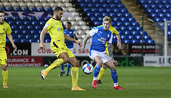 Sammie Szmodics of Peterborough United in action with Colin Daniel of Burton Albion - Mandatory by-line: Joe Dent/JMP - 27/10/2020 - FOOTBALL - Weston Homes Stadium - Peterborough, England - Peterborough United v Burton Albion - Sky Bet League One
