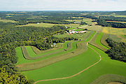 Aerial view of rural Dane County, Wisconsin.