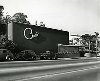 1941 Ciro's Nightclub on Sunset Blvd. in West Hollywood