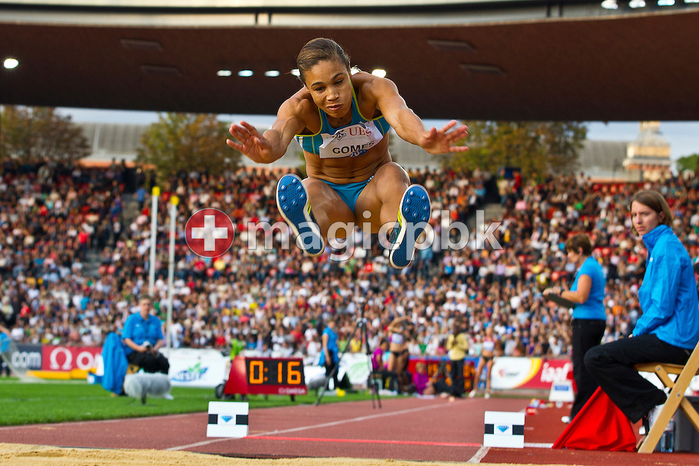 Naide GOMES of Portugal competes in the women's Long Jump during the IAAF Diamond League meeting at the Letzigrund Stadium in Zurich, Switzerland, Thursday, Aug. 19, 2010. (Photo by Patrick B. Kraemer / MAGICPBK)