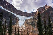 Angel Glacier and Cavell Lake, Mount Edith Cavell, Jasper National Park, Alberta Canada
