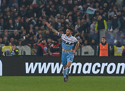 March 2, 2019 - Rome, Lazio, Italy - Danilo Cataldi celebrates after scoring goal 3-0 during the Italian Serie A football match between S.S. Lazio and A.S Roma at the Olympic Stadium in Rome, on march 02, 2019. (Credit Image: © Silvia Lore/NurPhoto via ZUMA Press)