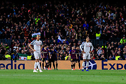 May 1, 2019 - Barcelona, BARCELONA, Spain - 09 Luis Suarez of FC Barcelona celebrating his goal  during the UEFA Champions League first leg match of Semi final between FC Barcelona and Liverpool FC in Camp Nou Stadium in Barcelona 01 of May of 2019, Spain. (Credit Image: © AFP7 via ZUMA Wire)