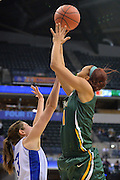 April 4, 2016; Indianapolis, Ind.; Megan Mullings puts up a shot in the NCAA Division II Women's Basketball National Championship game at Bankers Life Fieldhouse between UAA and Lubbock Christian. The Seawolves lost to the Lady Chaps 78-73.