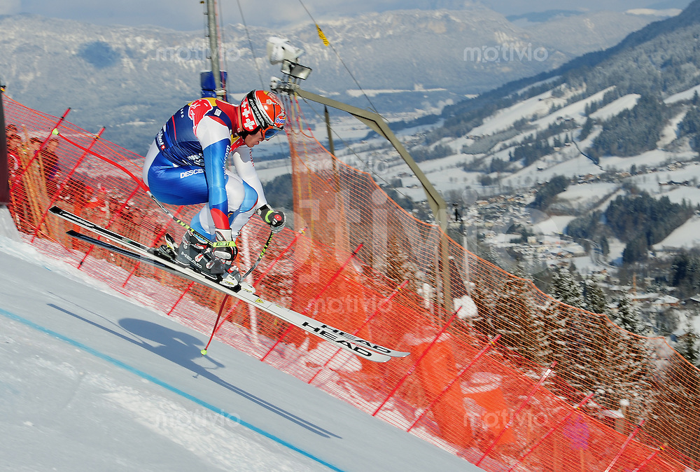 Ski Alpin;  Saison 2010/2011  22.01.2011 71. Hahnenkamm Rennen Abfahrt Sieger: Didier Cuche (SUI) an der Hausbergkante