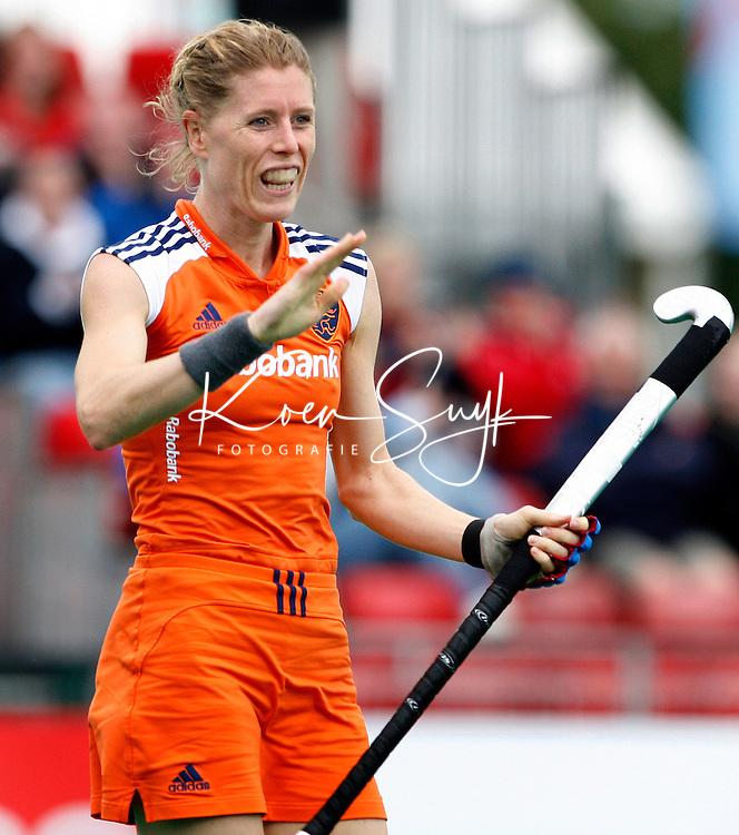 De Nederlandse Eefke Mulder heeft gescoord voor Oranje.