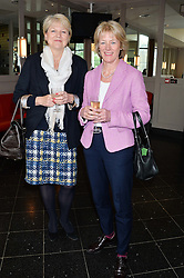 Left to right, JENNY DIGBY and SALLY MOULSDALE at a ladies lunch in aid of the charity Maggie's held at Le Cafe Anglais, 8 Porchester Gardens, London on 29th April 2014.