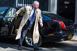 London, UK. 7 May, 2019. Geoffrey Cox QC MP, Attorney General, arrives at 10 Downing Street for a Cabinet meeting.