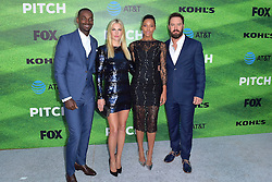 September 13, 2016 - Los Angeles, Kalifornien, USA - Mo McRae, Ali Larter, Kylie Bunbury und Mark-Paul Gosselaar bei der Premiere der FOX TV-Serie 'Pitch' auf dem West LA Little League Field. Los Angeles, 13.09.2016 (Credit Image: © Future-Image via ZUMA Press)