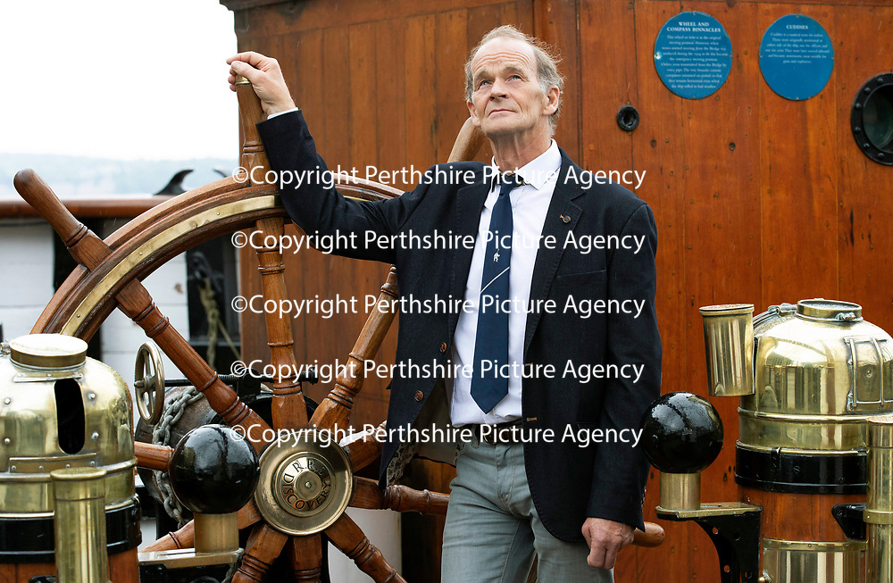 FREE TO USE PHOTOGRAPH…13.06.18<br />Falcon Scott Grandson of Captain Robert Falcon Scott pictured at Discovery Point, Dundee where he was officially opening the re-furbished gallery space.<br />for further info please contact Gillian at Volpa on 07490 259009 or g.drummond@volpa.co.uk<br />Picture by Graeme Hart.<br />Copyright Perthshire Picture Agency<br />Tel: 01738 623350  Mobile: 07990 594431