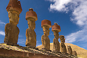 Moai at Anakena Beach Easter Island, Chile