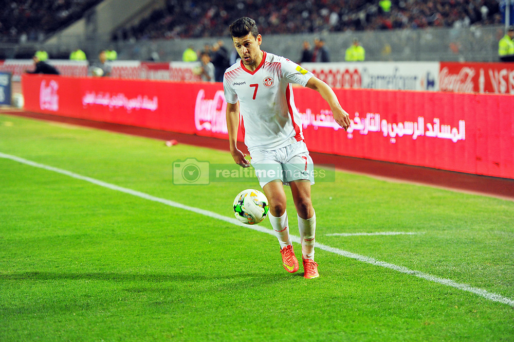 November 11, 2017 - Rades, Tunisia - Youssef M'sakni(7) in action during the Qualifying match for the 2018 FIFA Russia World Cup at Rades Stadium between Tunisia and Libya..Tunisia qualifies for the Russian world after a draw 0/0. (Credit Image: © Chokri Mahjoub via ZUMA Wire)