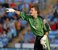 Photo: Ed Godden.<br /> Coventry City v Plymouth Argyle. Coca Cola Championship. 30/09/2006. Coventry keeper Andy Marshall.