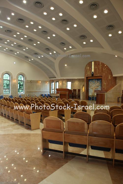 Israel, Tel Aviv, Beit Daniel, Tel Aviv's first Reform Synagogue the prayer hall