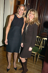 Left to right, LEONIE FRIEDA and AVERY AGNELLI at a party to celebrate the publication of Andrew Robert's new book 'Waterloo: Napoleon's Last Gamble' and the launch of the paperback version of Leonie Fried's book 'Catherine de Medici' held at the English-Speaking Union, Dartmouth House, 37 Charles Street, London W1 on 8th February 2005.<br />