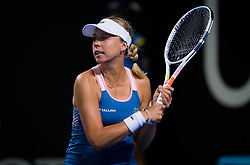 December 31, 2018 - Brisbane, AUSTRALIA - Anett Kontaveit of Estonia in action during her first-round match at the 2019 Brisbane International WTA Premier tennis tournament (Credit Image: © AFP7 via ZUMA Wire)