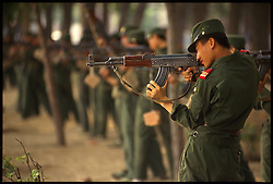Chinese Military Training in Tianjin, China.
