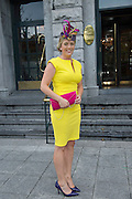Karen Washington, Roscommon at the Hotel Meyrick Most Stylish Lady event on ladies day of The Galway Races. Photo:Andrew Downes
