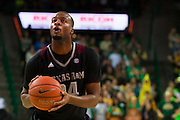 WACO, TX - DECEMBER 9: Antwan Space #24 of the Texas A&M Aggies shoots a free-throw against the Baylor Bears on December 9, 2014 at the Ferrell Center in Waco, Texas.  (Photo by Cooper Neill/Getty Images) *** Local Caption *** Antwan Space