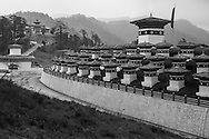 The 108 Druk Wangyal Chortens at Dochula Pass, Bhutan