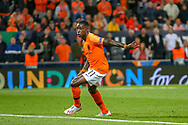 Goal Netherlands forward Quincy Promes (Sevilla) scores a goal 3-1during the UEFA Nations League semi-final match between Netherlands and England at Estadio D. Afonso Henriques, Guimaraes, Portugal on 6 June 2019.