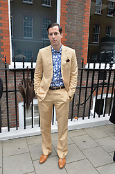 MARK RONSON at the launch of the new collection from Limoland held at Anderson & Sheppard's Haberdashery, 17 Clifford Street,London on 16th June 2014.