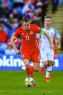 Wales midfielder Gareth Bale during the UEFA European 2020 Qualifier match between Wales and Slovakia at the Cardiff City Stadium, Cardiff, Wales on 24 March 2019.