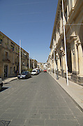 Corso Vittorio Emanuele III, the main street at Palazzolo Acreide, on the Monti Iblei, Province of Syracuse, Sicily, Italy, July 2006