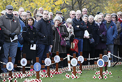 Two minutes' silence is observed in Princes Street Gardens, Edinburgh, to mark Armistice Day, the anniversary of the end of the First World War.
