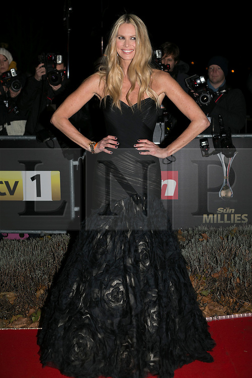 © licensed to London News Pictures. London, UK 06/12/2012. Elle Macpherson attending The Sun Military Awards at Imperial War Museum. Photo credit: Tolga Akmen/LNP