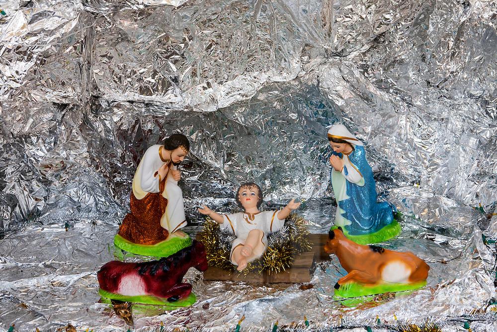 Nativity scene in Cock Church, Da Lat, Vietnam, Southeast Asia
