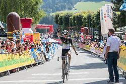 07.07.2017, St. Johann Alpendorf, AUT, Ö-Tour, Österreich Radrundfahrt 2017, 5. Etappe von Kitzbühel nach St. Johann/Alpendorf (212,5 km), im Bild Ben O'Connor (AUS, Team Dimension Data) Etappensieger // Ben O'Connor of Australia (Team Dimension Data) stage winner during the 5th stage from Kitzbuehel to St. Johann/Alpendorf (212,5 km) of 2017 Tour of Austria. St. Johann Alpendorf, Austria on 2017/07/07. EXPA Pictures © 2017, PhotoCredit: EXPA/ Reinhard Eisenbauer