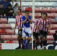 Photo: Andrew Unwin.<br />Sunderland v Ipswich Town. Coca Cola Championship. 13/01/2007.<br />Ipswich's Martin Naylor (C) rues a missed opportunity.