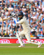 Moeen Ali of England hits the ball to the boundary for four runs during day 3 of the 5th test match of the International Test Match 2018 match between England and India at the Oval, London, United Kingdom on 9 September 2018.