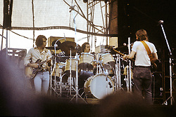 Bob Weir, Bill Kreutzmann and Phil Lesh performing with The Grateful Dead Live at Dillon Stadium, Hartford, CT 31 July 1974. Featuring the Wall of Sound. Summer weekday show, one of the longest ever played by The Dead.