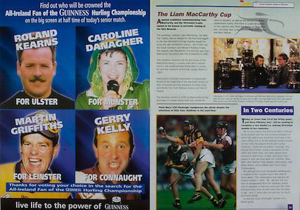 All Ireland Senior Hurling Championship - Final, .10.09.2000, 09.10.2000, 10th September 2000, .10092000AISHCF,.Senior Kilkenny v Offaly,.Minor Cork v Galway,.Kilkenny 5-15, Offaly 1-14, .Guinness,.The Liam McCarthy Cup,