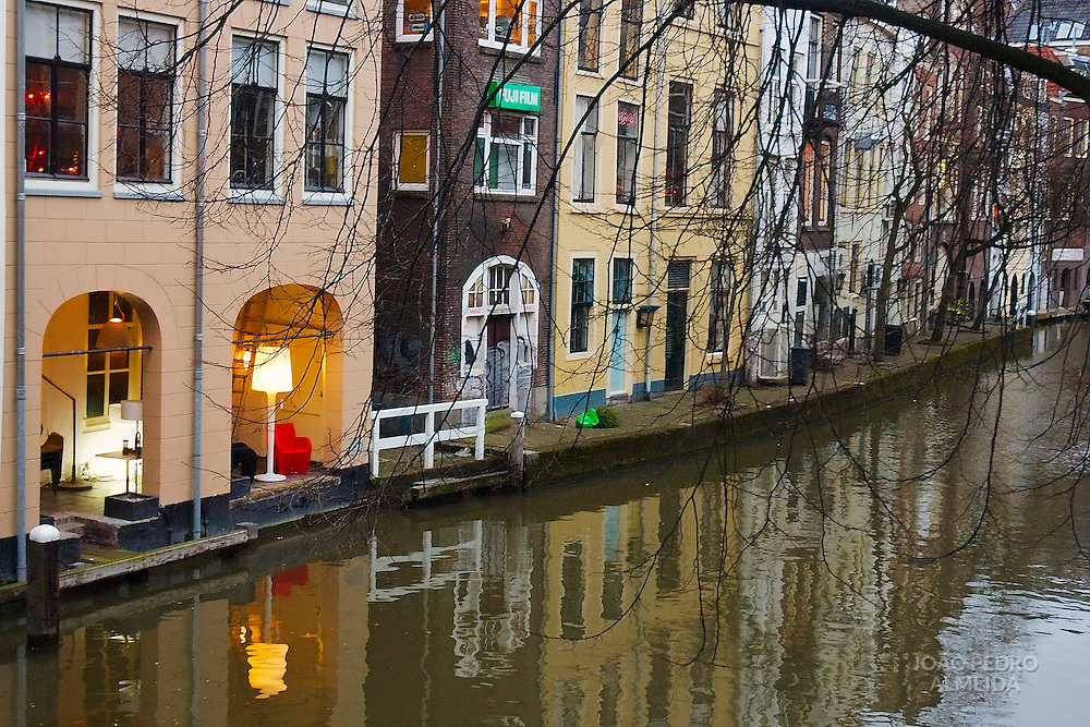 View of one Utrecht inner canal