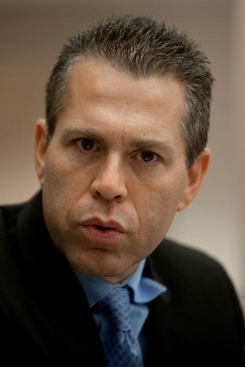 Israel's Minister of Environmental Protection Gilad Erdan attends a session of the Internal Affairs and Environment Committee at the Knesset, Israel's parliament in Jerusalem, on February 14, 2012.