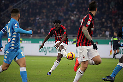 January 26, 2019 - Milan, Milan, Italy - Frank Kessie #79 of AC Milan in action during the serie A match between AC Milan and SSC Napoli at Stadio Giuseppe Meazza on January 26, 2018 in Milan, Italy. (Credit Image: © Giuseppe Cottini/NurPhoto via ZUMA Press)