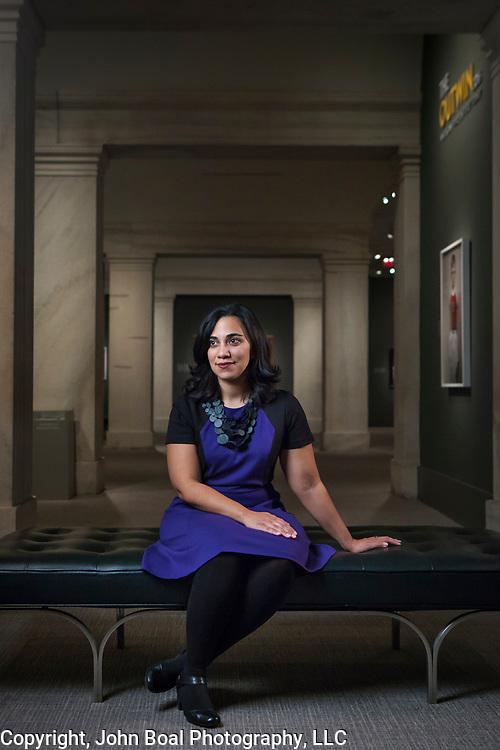 Leslie Ureña, assistant curator of photographs, National Portrait Gallery, Washington, D.C. For Northwestern University Magazine