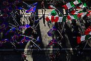 Sostenitori di Casapound in marcia verso Piazza del Popolo per il comizio della Lega Nord, Roma 28 febbraio 2015.  Christian Mantuano / OneShot <br /> <br /> Casapound supporters marching to Piazza del Popolo for the Northern League meeting in Rome February 28, 2015. Christian Mantuano / OneShot